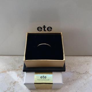 エテ(ete)のete ハーフ 18k ダイヤモンド ピンキーリング(リング(指輪))