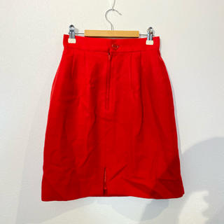 VILLANDRY ウールミニスカート レッド 日本製 #Cattleya(ミニスカート)