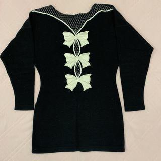シャンタルトーマス(Chantal Thomass)のシャンタル トーマス CHANTAL THOMASS チェック 長袖 黒 38(チュニック)