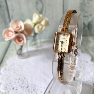 agete - 【美品】agete アガット 腕時計 0.02ct シェル ピンクゴールド
