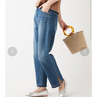 ディスコート(Discoat)のDiscoat デニム裾配色スリットパンツ(デニム/ジーンズ)