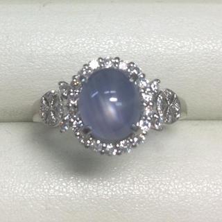 ★大きめの20号★Pt900スターサファイア&ダイヤモンドリング★S1.23ct(リング(指輪))