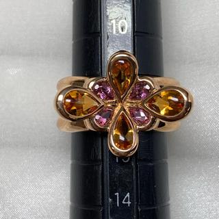 ヨンドシー(4℃)のRUGIADA  K18PG フラワー リング(リング(指輪))
