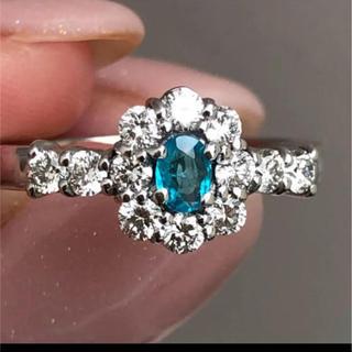 ブルーの美しいパライバトルマリンリング(リング(指輪))
