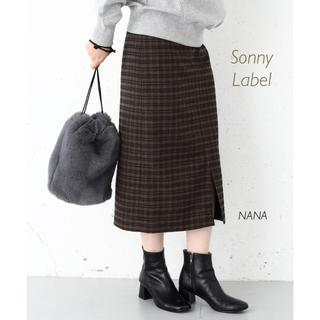 サニーレーベル(Sonny Label)の279.アーバンリサーチサニーレーベル チェックタイトスカート(ロングスカート)