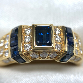 アクアスキュータム(AQUA SCUTUM)のAquascutum サファイア ダイヤモンド リング(リング(指輪))