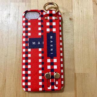 マルニ(Marni)のiphone7ケース マルニ  ブルー レッド 新品未使用 即日発送(iPhoneケース)