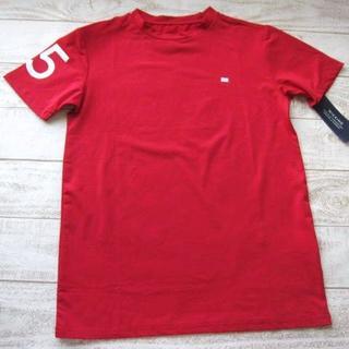 トミーヒルフィガー(TOMMY HILFIGER)のトミーヒルフィガー 男の子 半袖 ドライTシャツ M 赤/〓ZFN(ネコ)(Tシャツ/カットソー)