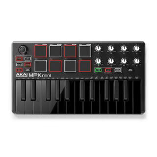 Akai mpk mini mk2 black (midi キーボード)レア(MIDIコントローラー)