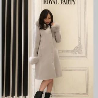 ロイヤルパーティー(ROYAL PARTY)のROYALPARTY♡フード付きFOXファーウールコート(毛皮/ファーコート)