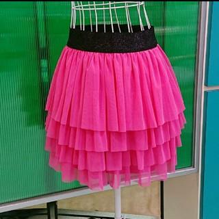 バイバイ(ByeBye)のBye Bye バイバイ 可愛い過ぎる♪ローズピンクのチュールレース スカート(ミニスカート)