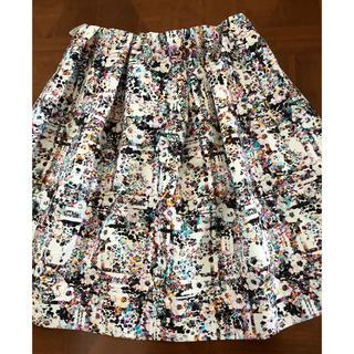 トゥービーシック(TO BE CHIC)のTO BE CHIC 美品デザインスカート42(ひざ丈スカート)