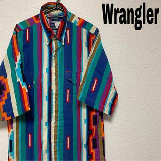 ラングラー(Wrangler)のWrangler 柄シャツ 希少シャツ 90s(シャツ)