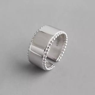 フリークスストア(FREAK'S STORE)のWide silver grain ring No.55(リング(指輪))
