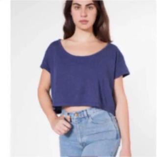 アメリカンアパレル(American Apparel)の新品 american apparel クロップドトップス Tシャツ(Tシャツ(半袖/袖なし))
