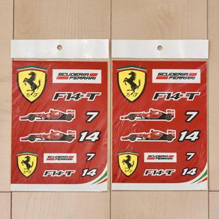 フェラーリ(Ferrari)のFerrari ステッカーシート2枚(未使用・未開封・フェラーリF1)F14-T(その他)