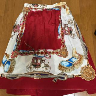 コムデギャルソン(COMME des GARCONS)の コムデギャルソンコムデギャルソンスカーフ柄スカート(ロングスカート)