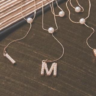 エイミーイストワール(eimy istoire)のMモチーフネックレス(ネックレス)