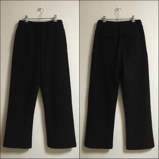 Yohji Yamamoto - ヨウジヤマモトプールオム ビッグシルエット縮絨ウール紐入り袴パンツ 黒 ブラック