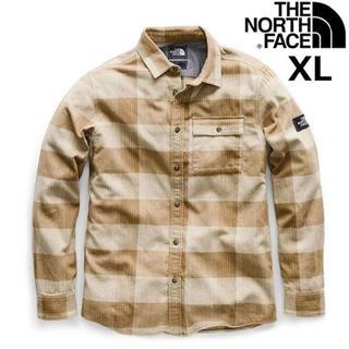 ザノースフェイス(THE NORTH FACE)のノースフェイス フランネルシャツ チェック柄 長袖(XL)カーキ 180910(シャツ)
