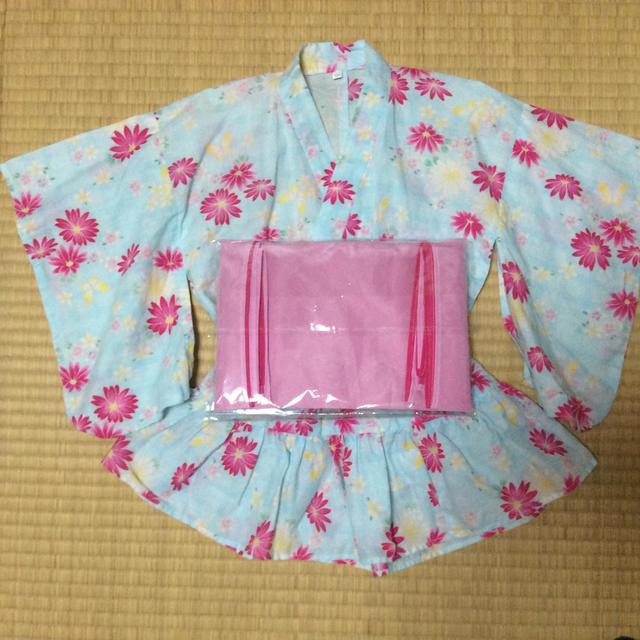 ゆかたドレス  サイズ100 キッズ/ベビー/マタニティのキッズ服 女の子用(90cm~)(甚平/浴衣)の商品写真