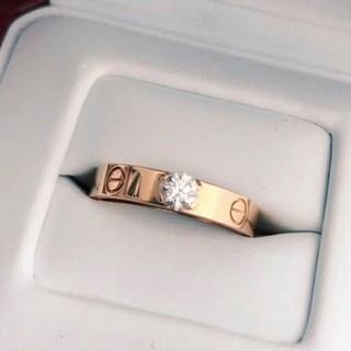 素敵♥お勧め カルティエ ダイヤ リング 刻印 ピンクゴールド(リング(指輪))
