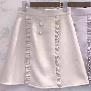 evelyn - フリルビジュー台形スカート アンミール anmille ミニスカート