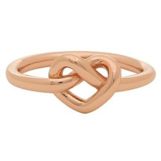 ケイトスペードニューヨーク(kate spade new york)の新品 ケイトスペード リング  ハート サイズ 6.8ローズゴールド(リング(指輪))
