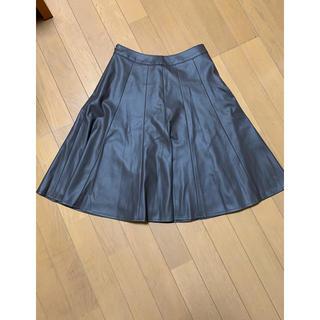 ジェイプレスレディス(J.PRESS LADIES)のJ.PRESSの合皮スカート小さいサイズ(ひざ丈スカート)
