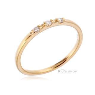 ユナイテッドアローズ(UNITED ARROWS)の極美品♡K18 3ダイヤ ピンキーリング ADER bijoux gigi(リング(指輪))