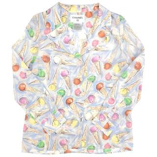シャネル(CHANEL)のCHANEL☆ 04C シャツ シルク アイスクリーム マルチカラー(シャツ/ブラウス(半袖/袖なし))