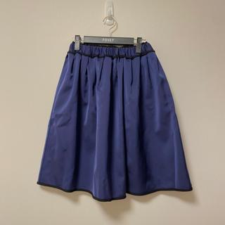 ランバンオンブルー(LANVIN en Bleu)のランバンオンブルー新品リバーシブルフレアスカート(ひざ丈スカート)