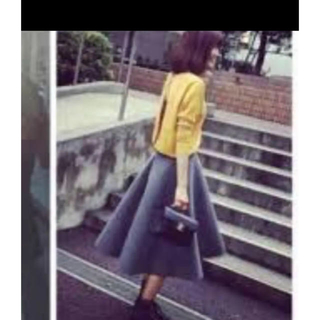 ルシェルブルー(LE CIEL BLEU)のLE CIEL BLEU メルトンテントスカート 34(ひざ丈スカート)