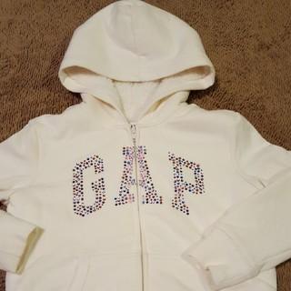 ギャップ(GAP)のGap☆ふわもこパーカー S  120☆ホワイト(ジャケット/上着)
