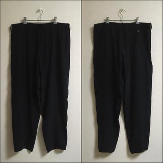 Yohji Yamamoto - ワイズフォーメン ビッグシルエットドレープ紐入り袴パンツ 黒 ブラック