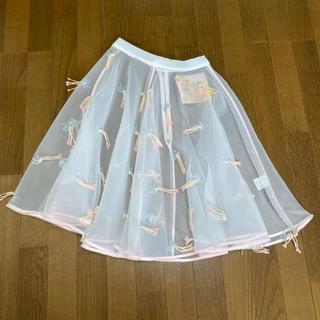 ミキオサカベ(MIKIO SAKABE)のミキオ◎シースルースカート(ひざ丈スカート)