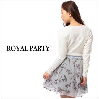ロイヤルパーティー(ROYAL PARTY)のROYAL PARTY 花柄シフォンフレア スカート♡マーキュリーデュオ(ミニスカート)