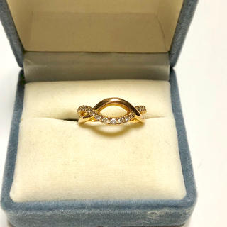 ヨンドシー(4℃)の4°C K18 ダイヤモンドリング 8号(リング(指輪))