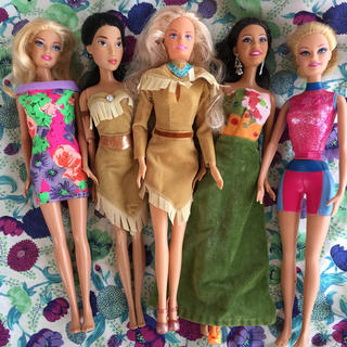 バービー(Barbie)の人形5体(人形)