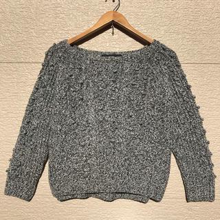 マカフィー(MACPHEE)のMACPHEE マカフィー ニット セーター グレー 黒 白 1(ニット/セーター)