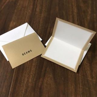 ビームス(BEAMS)のBEAMS ビームス メッセージカード 2枚(ノート/メモ帳/ふせん)