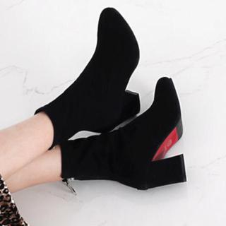 新品 ソックスブーツ  アンクルブーツ ショートブーツ 24cm(ブーツ)