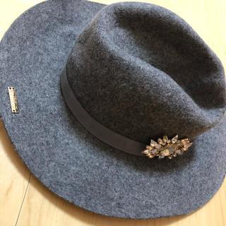 レディー(Rady)の美品 Rady ハット つば広 女優帽 冬 帽子(ハット)