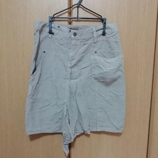 オズモーシス(OSMOSIS)のオズモーシス アシンメトリー 変形 デザインスカート ベージュ 膝丈(ひざ丈スカート)