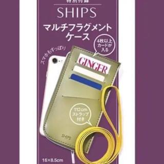 シップス(SHIPS)のGINGER11月号付録 シップス マルチフラグメントケース(名刺入れ/定期入れ)