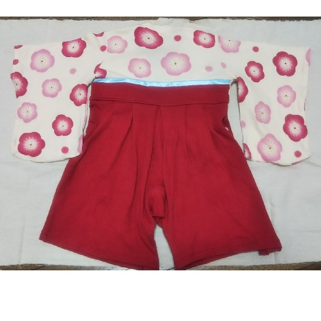 ベルメゾン(ベルメゾン)の袴ロンパース70 ベビー 女の子 ベルメゾン キッズ/ベビー/マタニティのベビー服(~85cm)(和服/着物)の商品写真