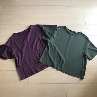 ユニクロ(UNIQLO)の【UNIQLO 2点セット】Tシャツ(Tシャツ(半袖/袖なし))