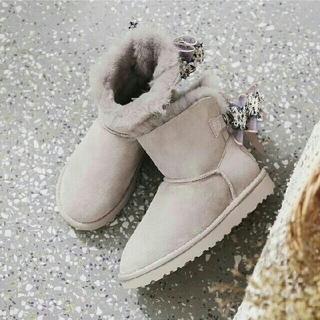 アグ(UGG)のUGG 新品 アグ 23cm ラベンダー スター ショート ムートン ブーツ(ブーツ)