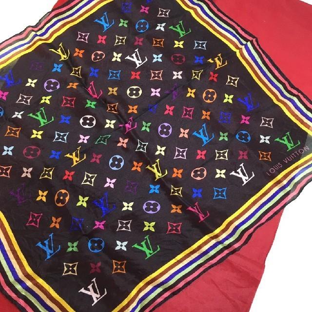 LOUIS VUITTON(ルイヴィトン)のルイヴィトン マルチカラー スカーフ レディースのファッション小物(バンダナ/スカーフ)の商品写真