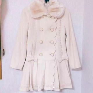 リズリサ(LIZ LISA)の最終値下姫系リボン フリルレースプリーツスカートドールコート夢展望axes(ロングコート)